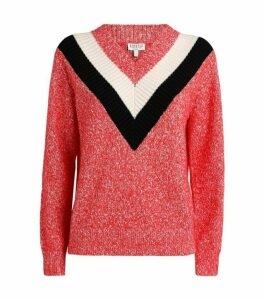 Claudie Pierlot Stripe-Neck Sweater