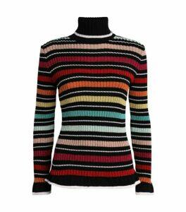 Mary Katrantzou Metallic Turtleneck Sweater