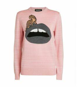 Markus Lupfer Mia Lip Leopard Sweater