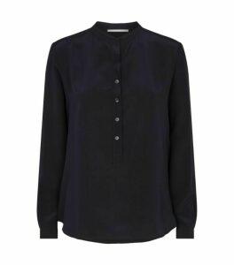 Stella McCartney Silk Button-Neck Blouse