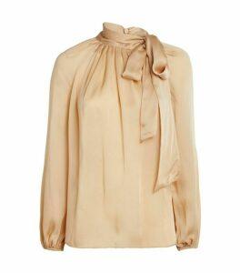 Zimmermann Super Eight Silk Tie Blouse