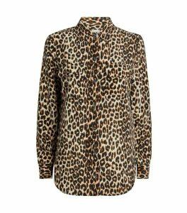 Equipment Leopard Print Silk Shirt