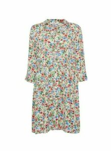 Womens Only Multi Colour Floral Print Shirt Dress - White, White