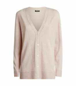 Harrods of London Cashmere Crystal-Trim Cardigan