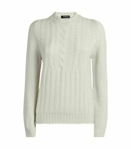 Harrods of London Cashmere Cable-Knit Sweater