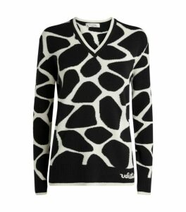 Valentino Wool Giraffe Sweater