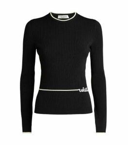 Valentino Logo Ribbed Sweater