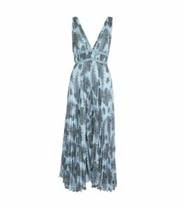 Sandro Paris Paisley Print Chiffon Dress