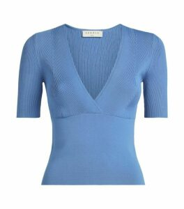 Sandro Paris Knitted V-Neck Top