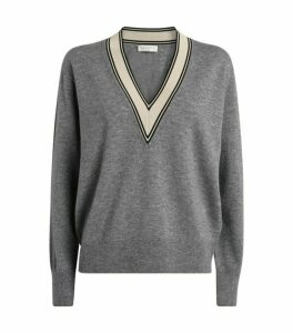 Sandro Paris Contrast Trim Sweater
