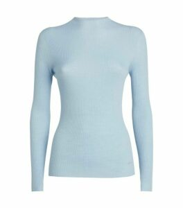 Akris Cashmere-Silk Ribbed Sweater