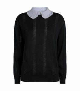 Claudie Pierlot Detachable Ruffle Collar Sweater