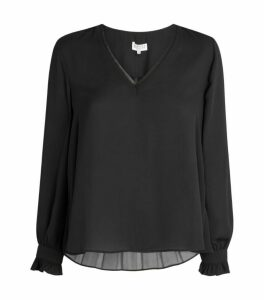Claudie Pierlot Ruffle Sleeve Blouse