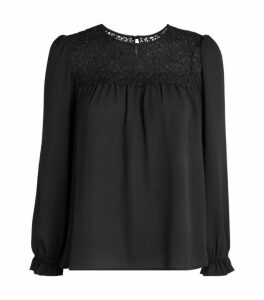 Claudie Pierlot Lace Yoke Blouse