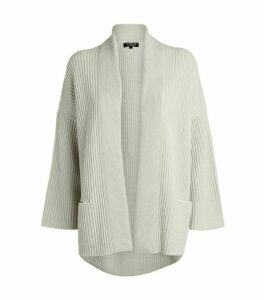 Harrods of London Ribbed Cashmere Cardigan
