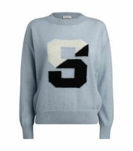 Sandro Paris Knit Initial Sweater