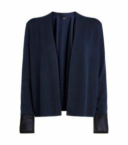 Akris Detachable Silk Cuffs Cardigan