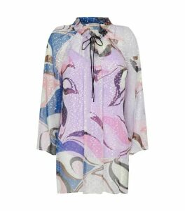 Emilio Pucci Embellished Sheer Blouse