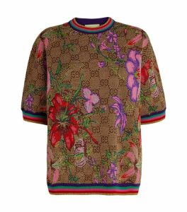 Gucci GG Floral Wool-Jaquard Top