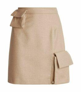 Natasha Zinko Flap Pocket Mini Skirt