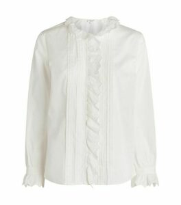 Claudie Pierlot Pleated Ruffle Shirt