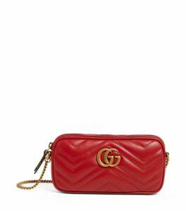 Gucci Mini Leather Marmont Chain Bag