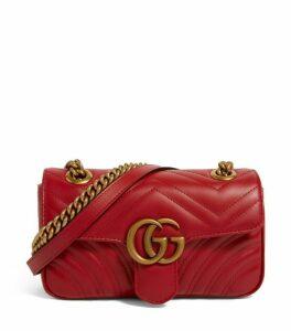 Gucci Small Leather Marmont Matelassé Shoulder Bag