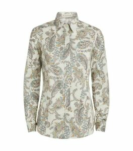 Etro Oversized Cotton Paisley Shirt