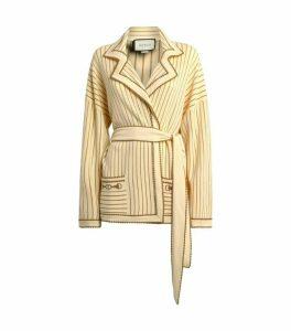 Gucci Stripe Belted Cardigan