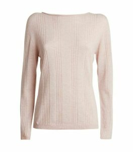 Harrods of London Ribbed Cashmere Sweater