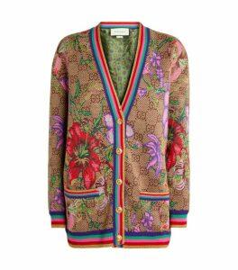 Gucci GG Flora Wool-Jacquard Cardigan