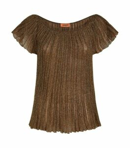 Missoni Metallic Pleated Top