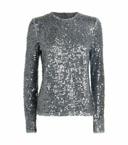Galvan Oasis Sequin-Embellished Top