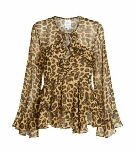 Misa Los Angeles Damaris Leopard Print Blouse