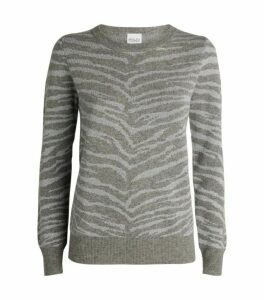 Madeleine Thompson Juno Zebra Wool-Cashmere Sweater
