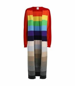 Madeleine Thompson Rainbow Open-Front Cardigan