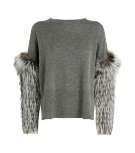 Izaak Azanei Fur Cuff Sweater