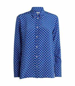Sandro Paris Patterned Silk Shirt
