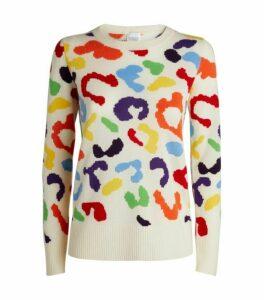 Madeleine Thompson Bacchus Cashmere Leopard Sweater