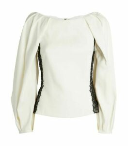 Amanda Wakeley Cady Lace-Trim Top
