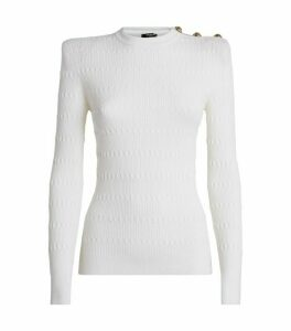 Balmain Open-Knit Sweater