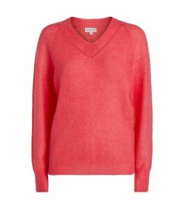 Claudie Pierlot Knit V-Neck Sweater