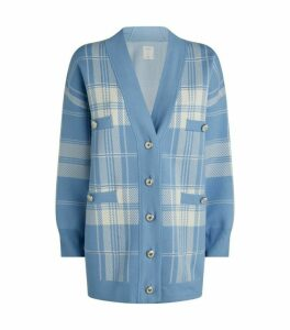 Sandro Paris Check Cardigan