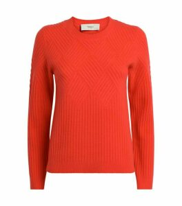 Pringle of Scotland Diamond-Ribbed Cashmere-Wool Sweater