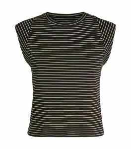 FRAME Le High-Rise Muscle Stripe Tank Top