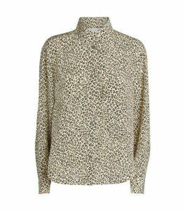 FRAME Leopard Print Long-Sleeved Shirt