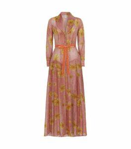 La Costa del Algodón Cotton Edith Floral Robe