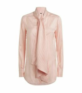 Kiton Striped Pussybow Blouse