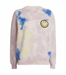 Sandro Paris Tie-Dye Smiley Sweatshirt