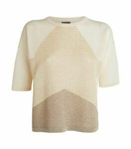 Lorena Antoniazzi Star Detail Ribbed Sweater